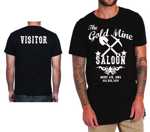 gold mine saloon_T-shirt