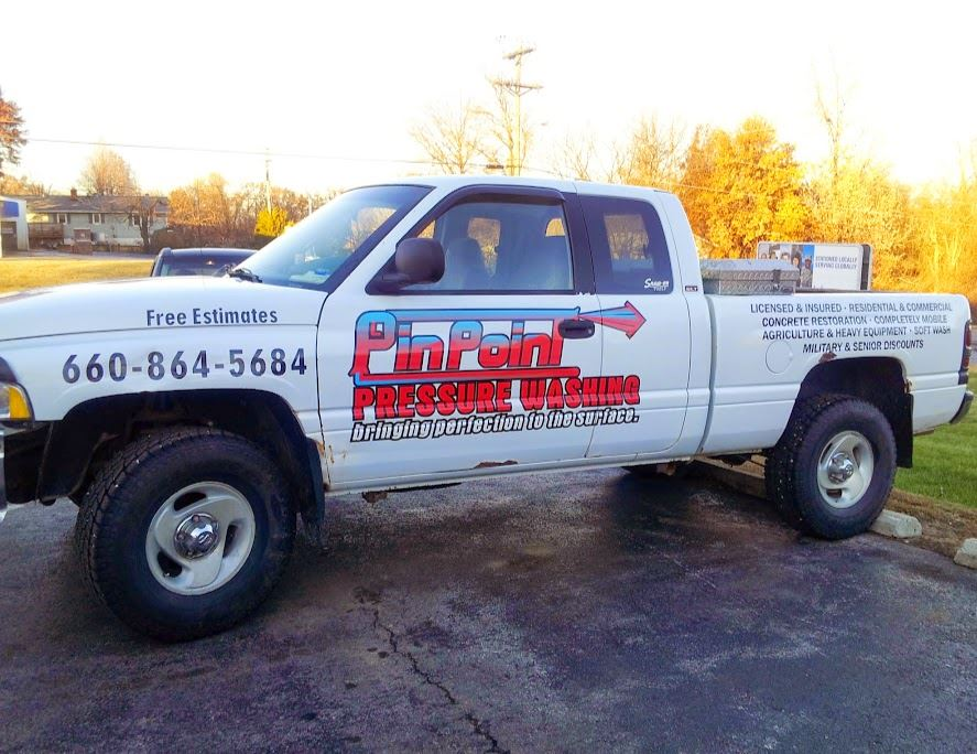 pin point power wash logo and lettering